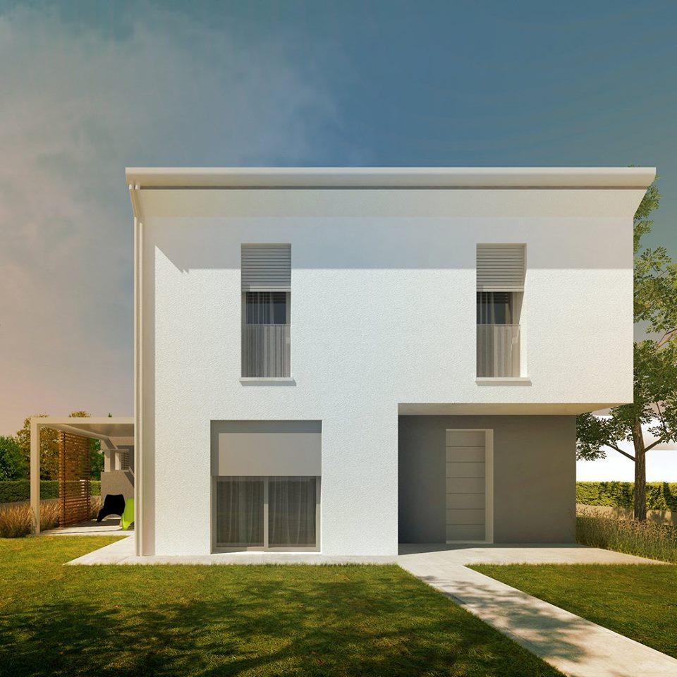 Casa u metrocubo for Piani di casa del sud avvolgono portico